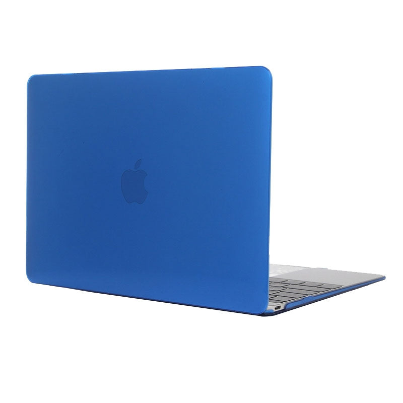 Colored Transparent Crystal Hard Protective Case for Macbook 12 inch(Dark Blue)