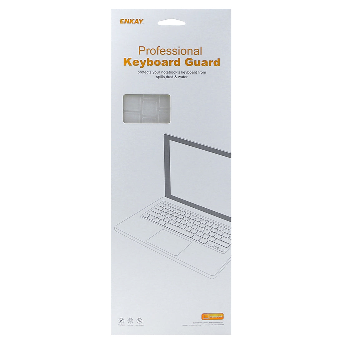 ENKAY Keyboard Protector Cover for Macbook Pro 13.3 inch & Air 13.3 inch & Pro 15.4 inch, US Version and EU Version, French