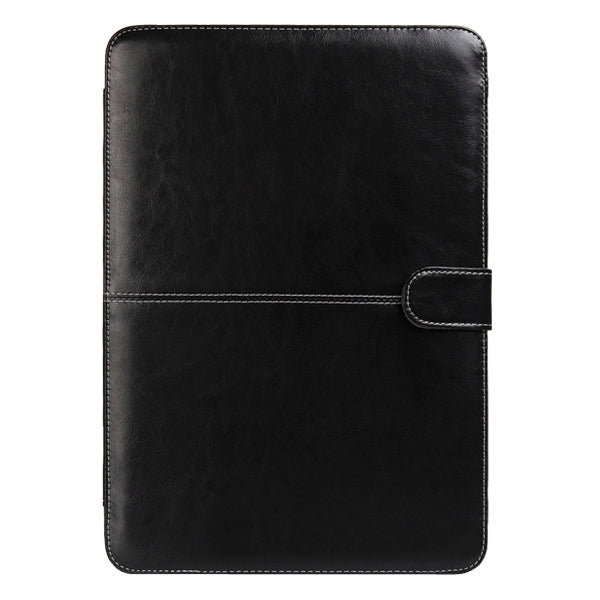 Notebook Leather Case with Snap Fastener for 13.3 inch MacBook Air(Black)