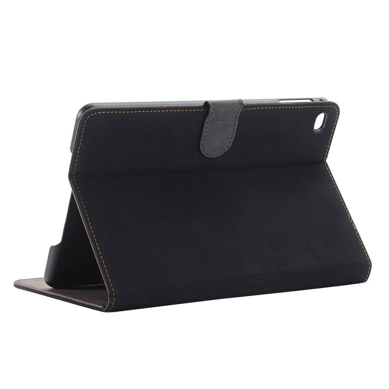 Archaize Texture Horizontal Flip Smart Leather Case with Holder for iPad mini 4 / mini 2019(Black)