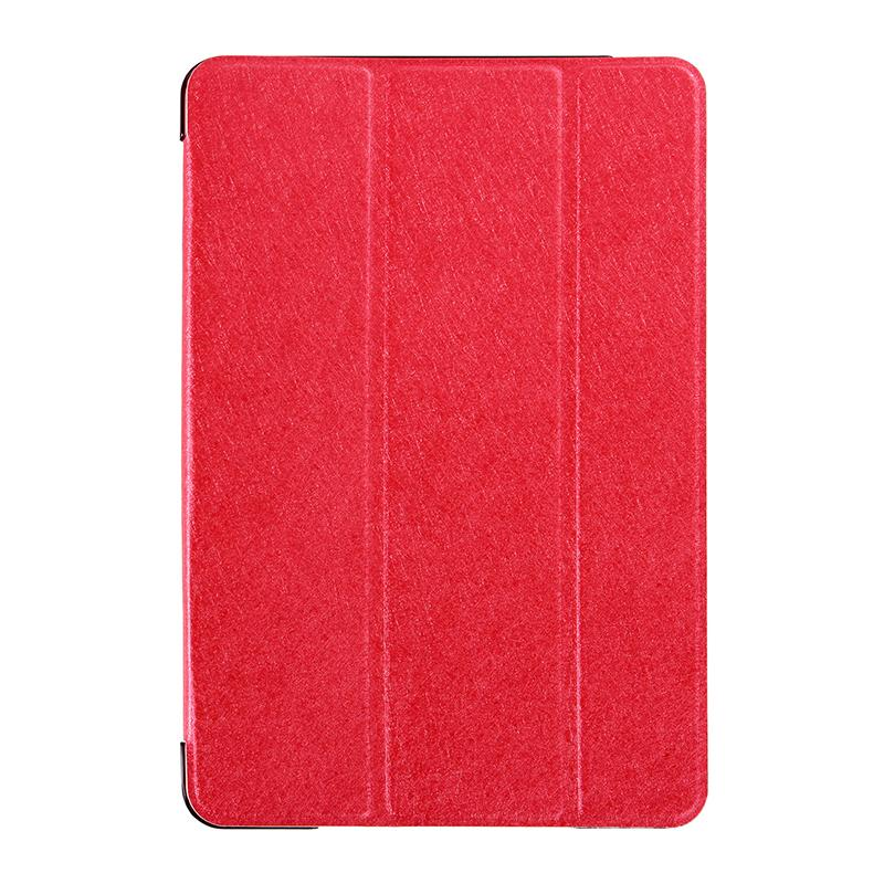 Silk Texture Horizontal Flip Leather Case with Three-Folding Holder for iPad mini 4(Red)