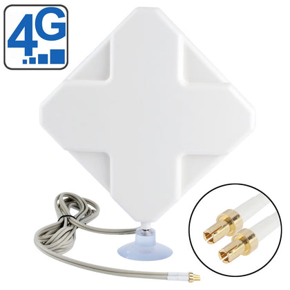 High Quality Indoor 35dBi TS9 4G Antenna, Cable Length: 2m, Size: 22cm x 19cm x 2.1cm