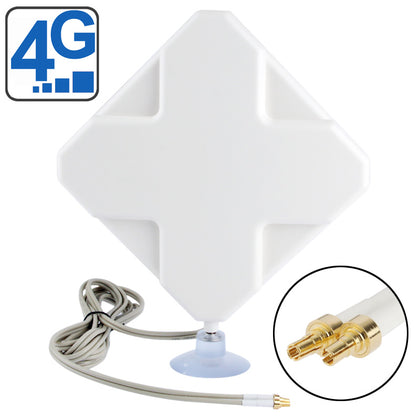 High Quality Indoor 35dBi CRC9 4G Antenna, Cable Length: 2m, Size: 22cm x 19cm x 2.1cm