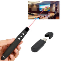 PP-1000 Multimedia Presentation Remote PowerPoint Clicker 2.4GHz RF Laser Pointer with USB Receiver(Black)