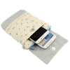 Stripe Pattern Cloth Pocket Carry Bag with Long Strap, Random Color Delivery, For Samsung S5 / G900 / i9500 / i9300 / i9250 / i8750 / iPhone 5 / HTC One
