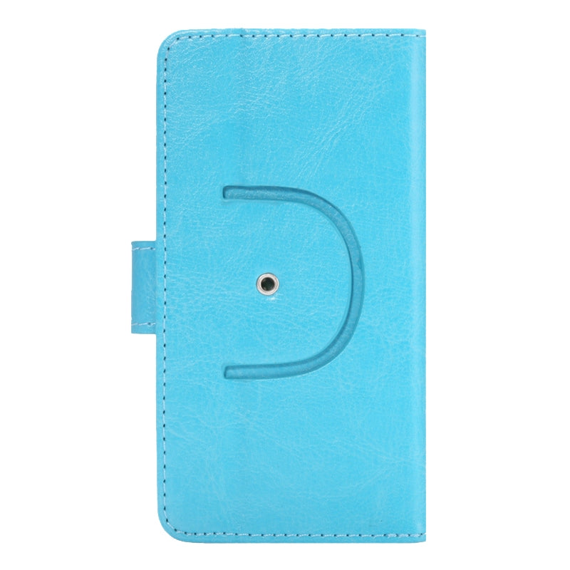 4.3-4.8 Inch Universal Crazy Horse Texture 360 Degree Rotating Carry Case with Holder & Card Slots for iPhone 6 & 6S / Galaxy S4 / S3 / i9500 / i9300(Baby Blue)