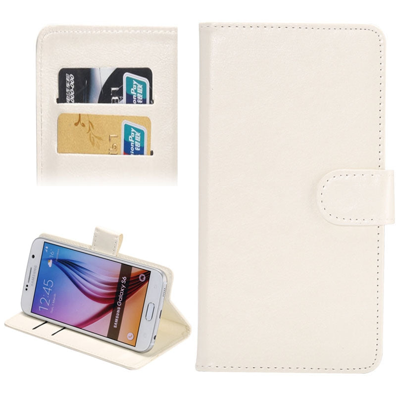 3.8-4.3 Inch Universal Crazy Horse Texture 360 Degree Rotating Carry Case with Holder & Card Slots for Galaxy SII / i9100 / iPhone 4 / 4s / 5 / 5c / 5s(White)