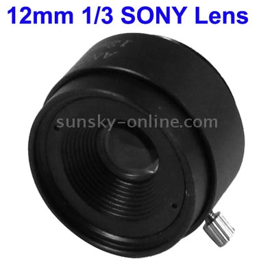 12mm 1/3 SONY Camera Lens for CCD Cameras(Black)