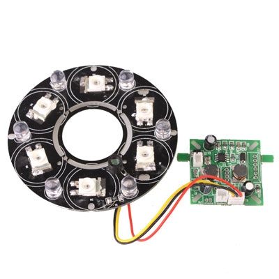 6 LED 8mm Infrared Lamp Board for CCD Camera, IR Distance: 80-100m