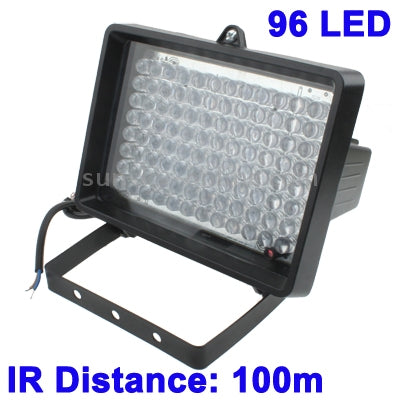 96 LED Auxiliary Light for CCD Camera, IR Distance: 100m (ZT-496WF) , Size: 13x16.8x11cm(Black)