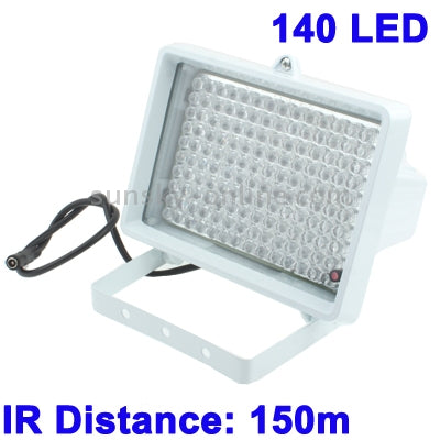 140 LED Auxiliary Light for CCD Camera, IR Distance: 150m (ZT-140LF) , Size: 11x17x12.5cm(White)