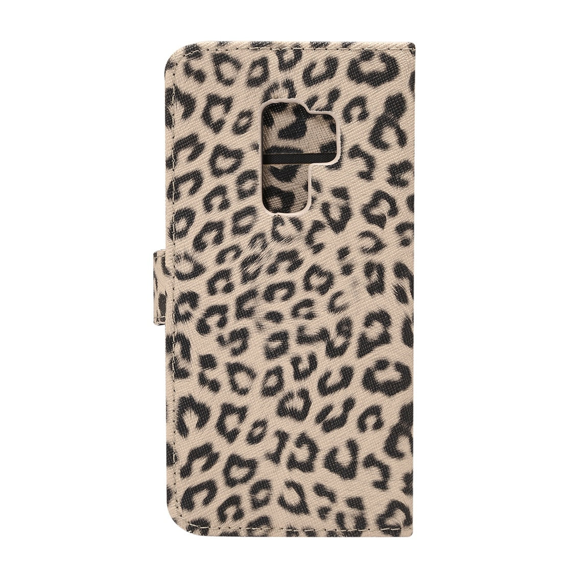 For Galaxy S9+ Leopard Pattern PU + PC Horizontal Flip Leather Case with Holder & Card Slots & Wallet(Brown)