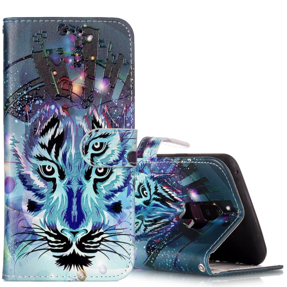 For Galaxy S9+ Gloss Oil Embossed Wolf Pattern Horizontal Flip Leather Case with Holder & Card Slots & Wallet