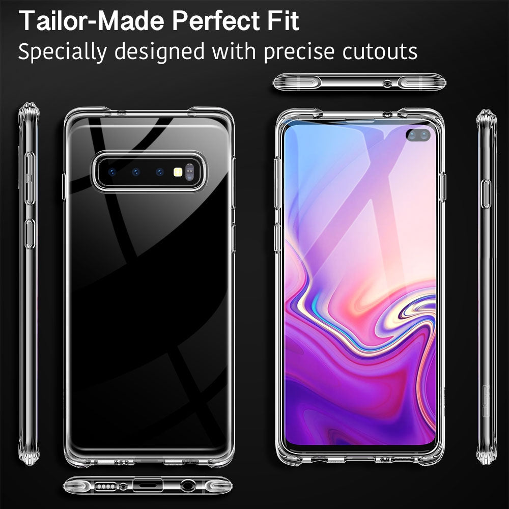 ESR Essential Zero Clear Series Ultra-thin Shockproof Soft TPU Case for Galaxy S10+ (Transparent)
