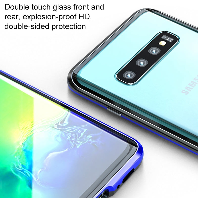 Galaxy S10+ Ultra Slim Double Sides Magnetic Adsorption Angular Frame Tempered Glass