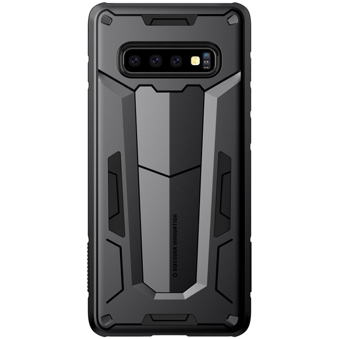 NILLKIN Tough Defener II Case Shockproof TPU + PC Case for Galaxy S10 Plus (Black)