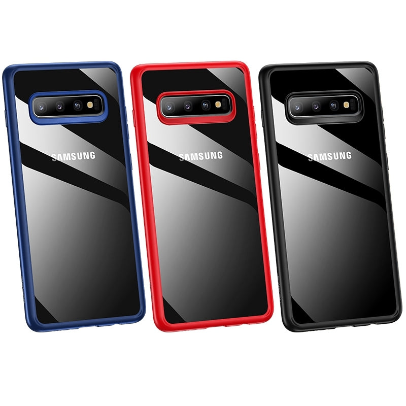 USAMS Mant Series Shockproof TPU + PC Case for Galaxy S10+(Black)