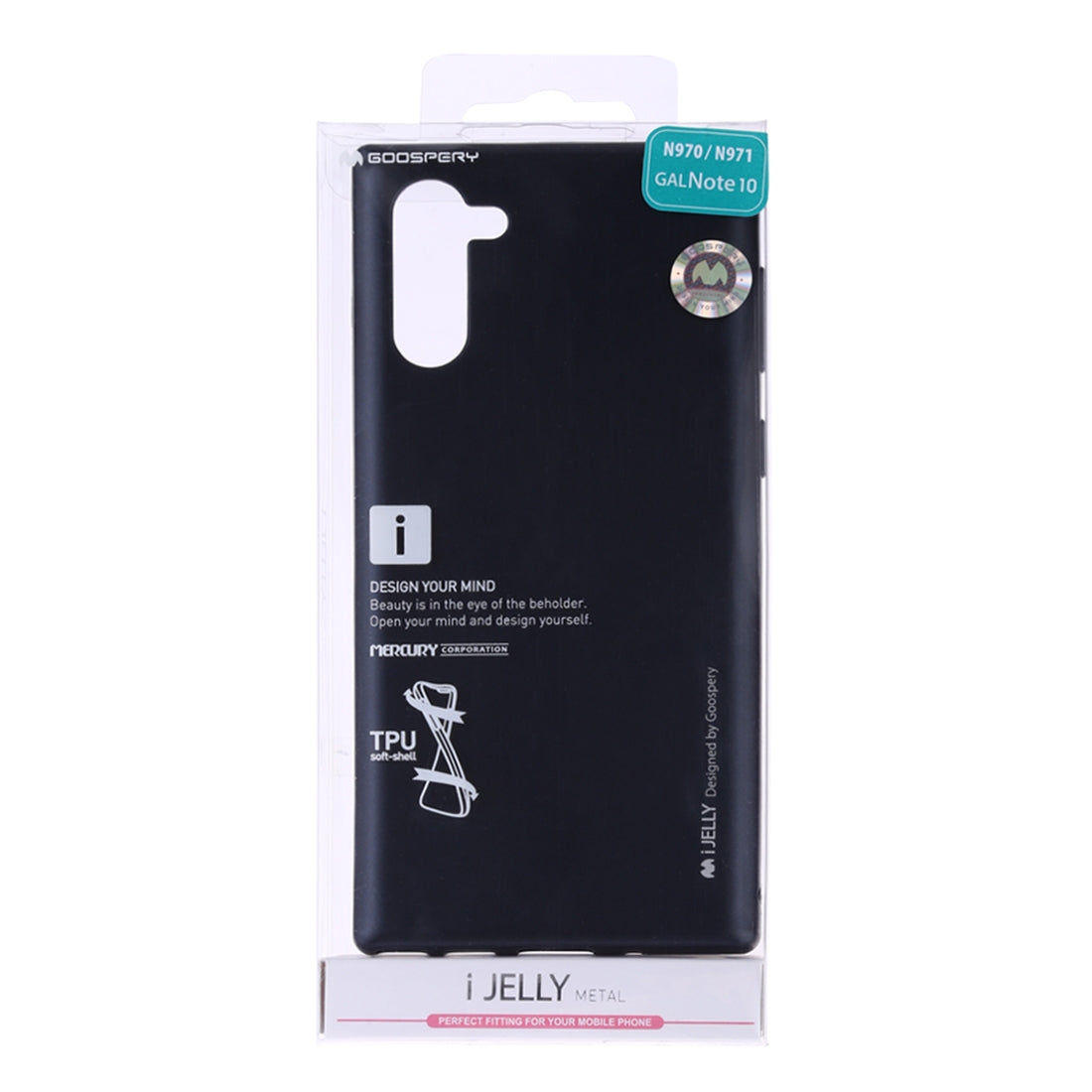 GOOSPERY i-JELLY TPU Shockproof and Scratch Case for Galaxy Note 10(Black)
