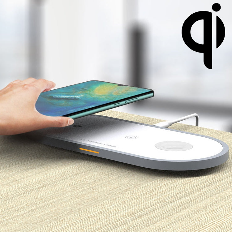 W40 3 in 1 Quick Wireless Charger for iPhone, Apple Watch, AirPods