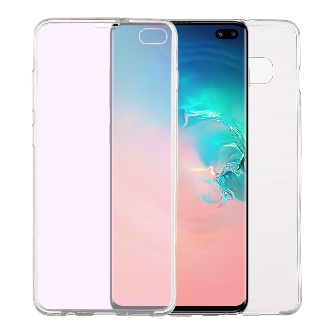 Ultra-thin Double-sided Full Coverage Transparent TPU Case for Galaxy S10+