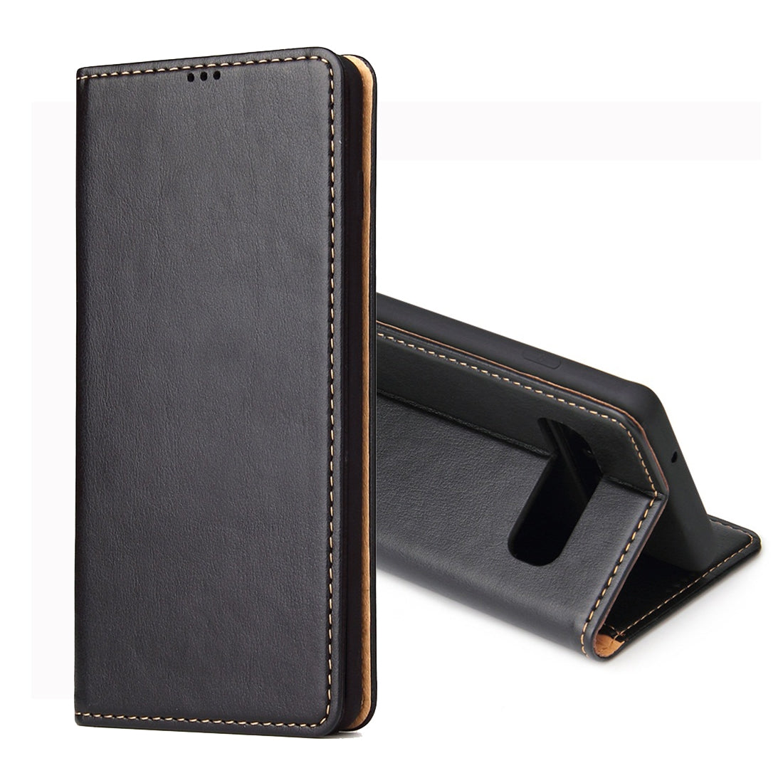 Dermis Texture PU Horizontal Flip Leather Case for Galaxy S10 Plus, with Holder & Card Slots & Wallet (Black)