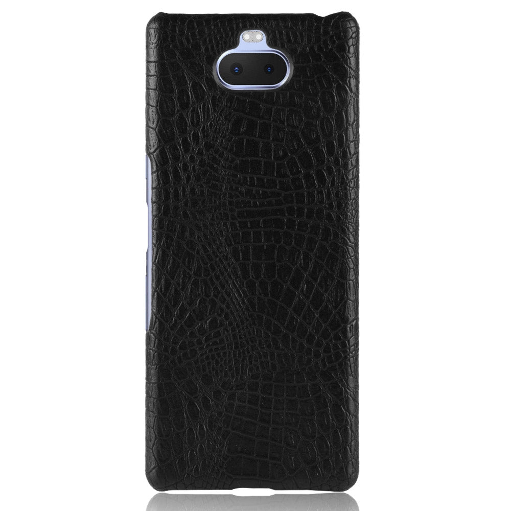 Shockproof Crocodile Texture PC + PU Case for Sony Xperia 10 (Black)