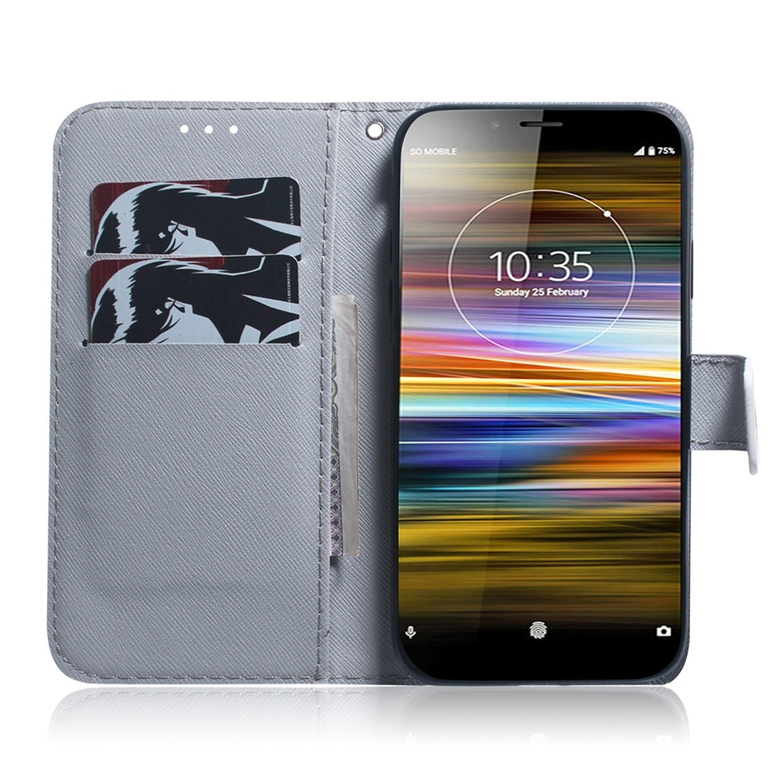 Lion Pattern Coloured Drawing Horizontal Flip Leather Case for Sony Xperia L3, with Holder & Card Slots & Wallet