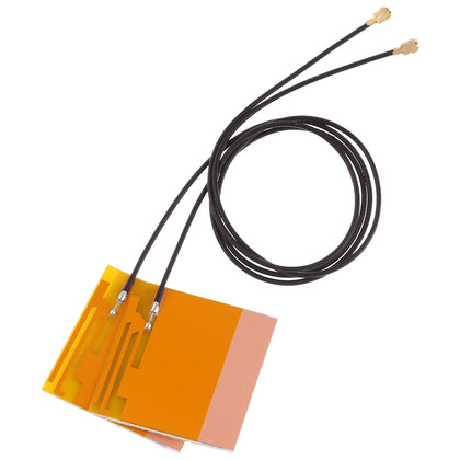 1 Pair Mini PCI-E Wifi Internal Antenna Universal Laptop Wifi Bluetooth Yellow film antenna For Wireless network card tablet