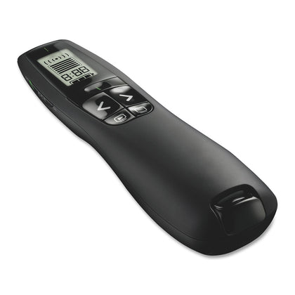 R800 2.4Ghz USB Wireless Presenter PPT Remote Control with LCD display, Laser Color:Green