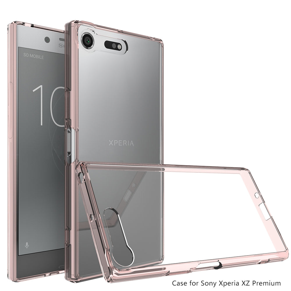 Scratchproof TPU + Acrylic Protective Case for Sony Xperia XZ Premium(Pink)