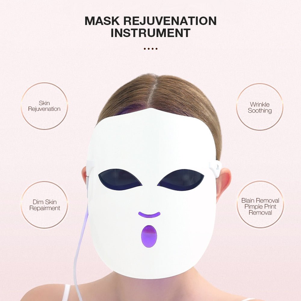 K-SKIN KD-036 Beauty Photon LED Facial Mask Therapy Skin Rejuvenation  Skin Care Anti Acne Wrinkle Removal Massage
