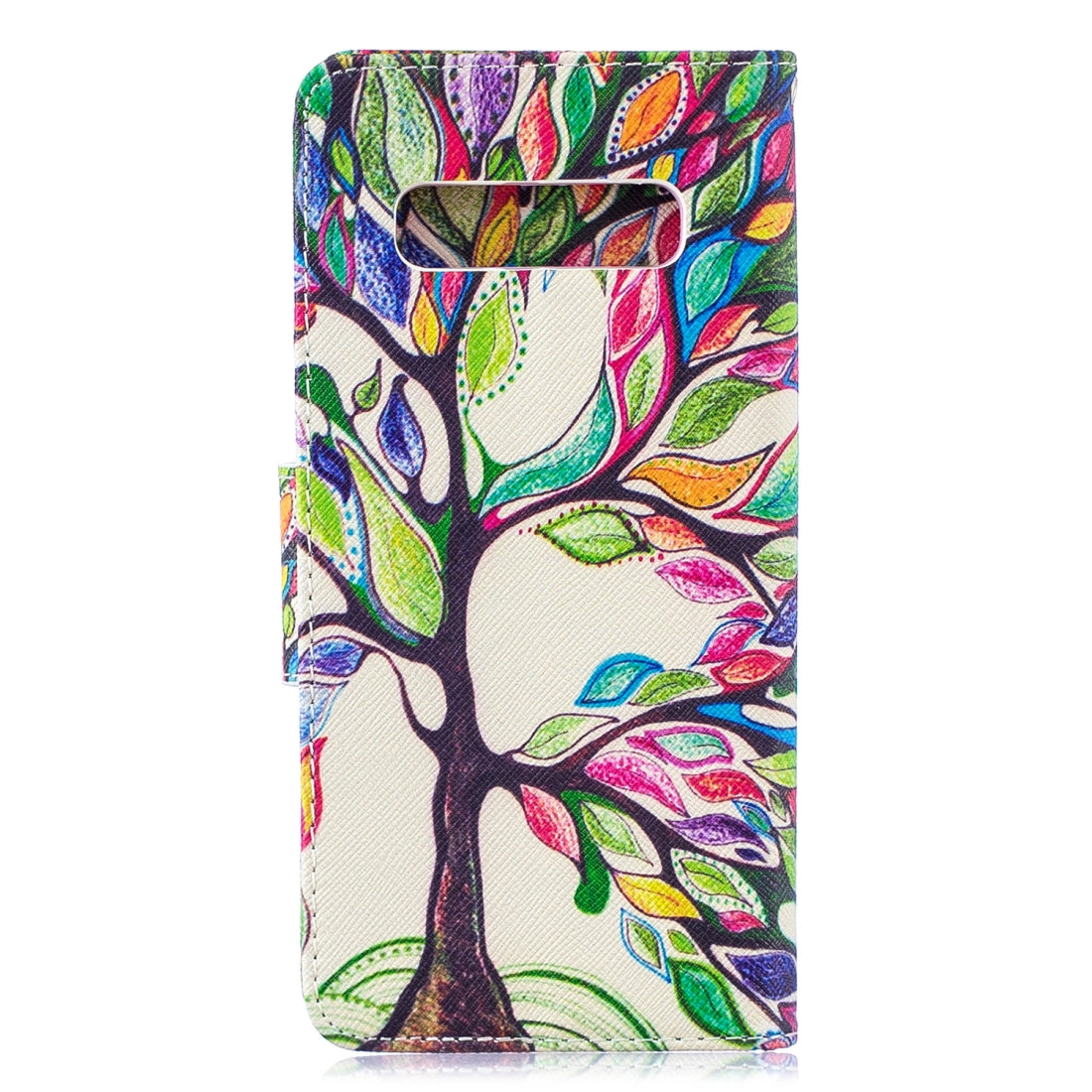 Colored Drawing Pattern Horizontal Flip Leather Case for Samsung Galaxy S10 Plus,with Holder & Card Slots & Wallet (Life Tree)
