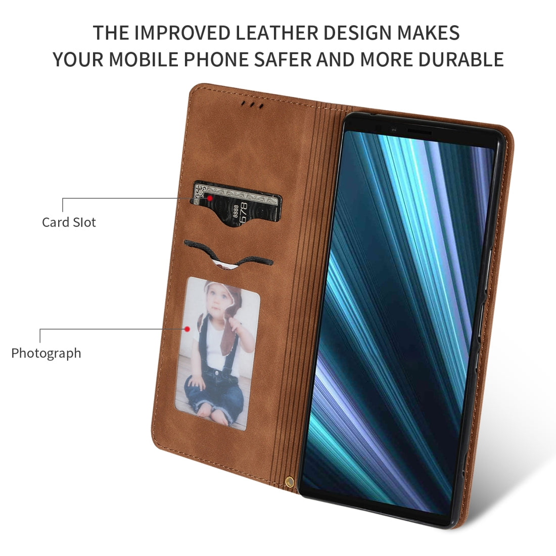 Retro Skin Feel Business Magnetic Horizontal Flip Leather Case for Sony Xperia 1 & Xperia XZ4(Brown)