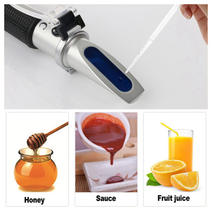 RZ117 Optical Brix Meter Handheld High Concentration Brix Meter Honey Sugar Meter 0-90 Range