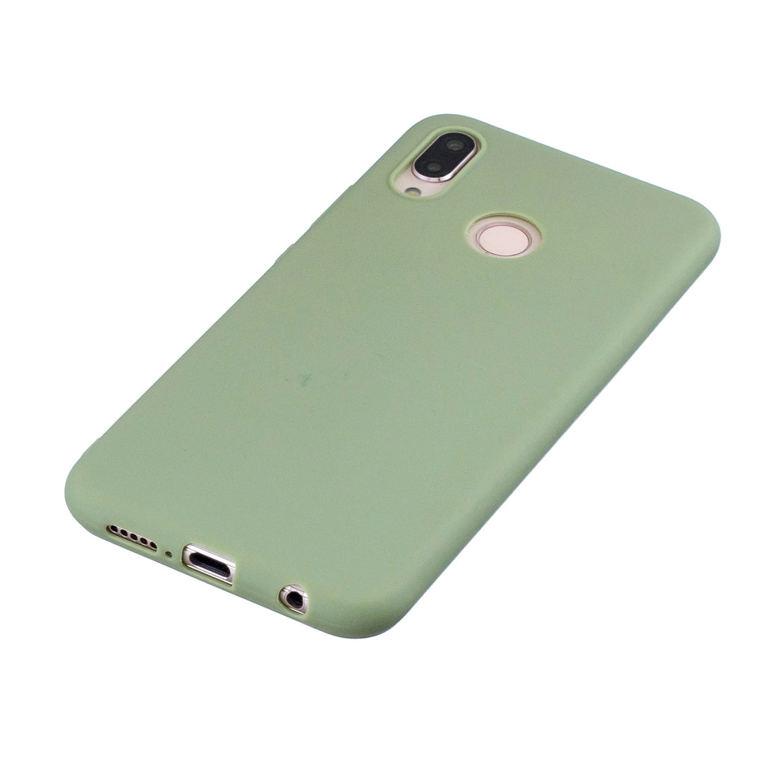 Frosted Solid Color TPU Protective Case for Huawei P20 Lite/Nova 3E(Bean green)
