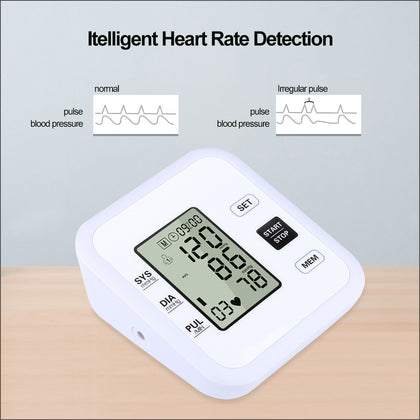 RZ205 Blood Pressures Automatic Digital Upper Arm Heart Beat Rate Pulse Monitor Meter Tonometer Medical Equipment Sphygmomanometer