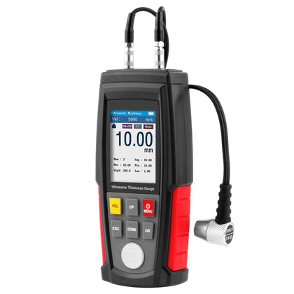WT100A Digital Ultrasonic Thickness Gauge Meter Tester USB Charging Digital Thickness Metal Tester High Precision