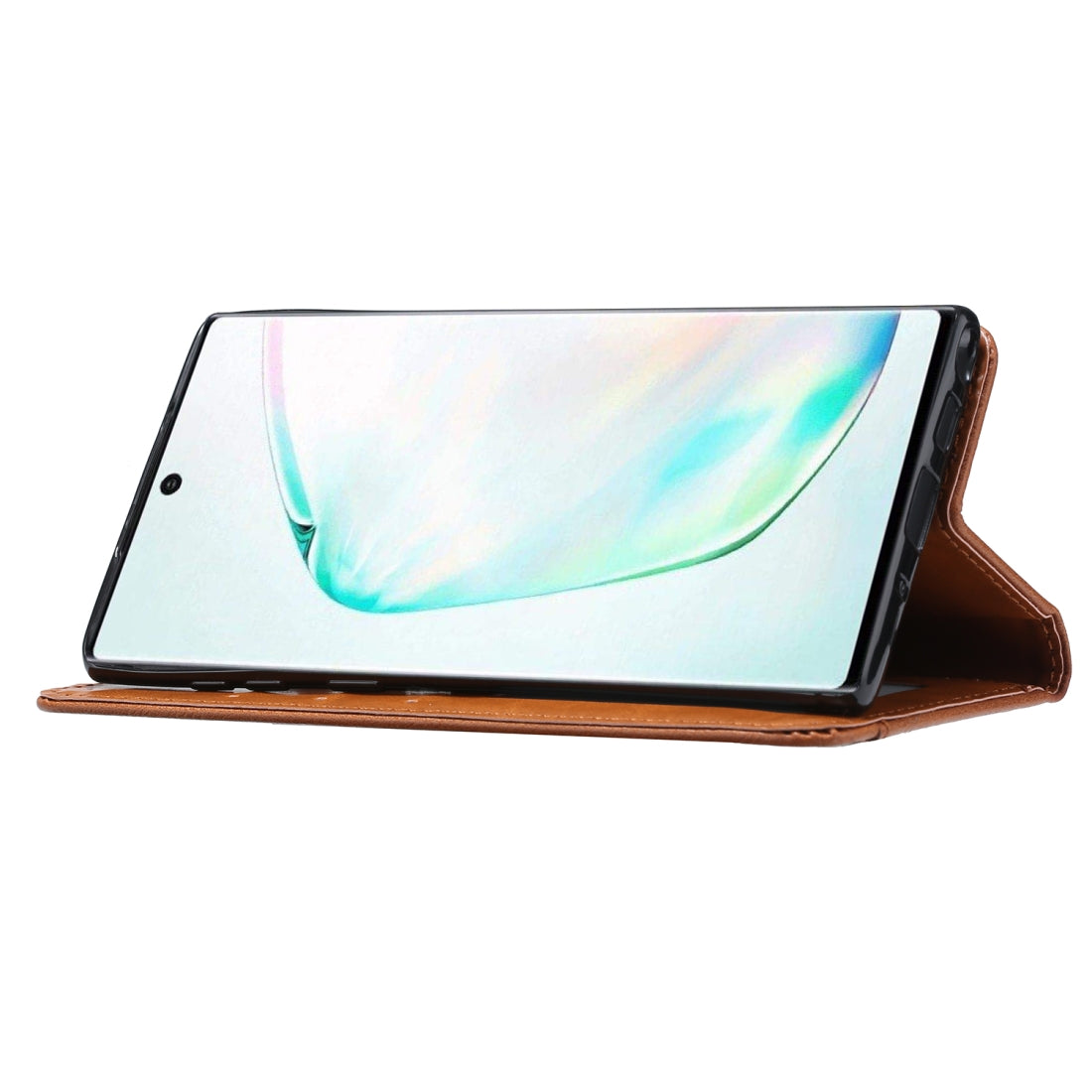 Knead Skin Texture Horizontal Flip Leather Case for Galaxy Note10, with Photo Frame & Holder & Card Slots & Wallet(Brown)