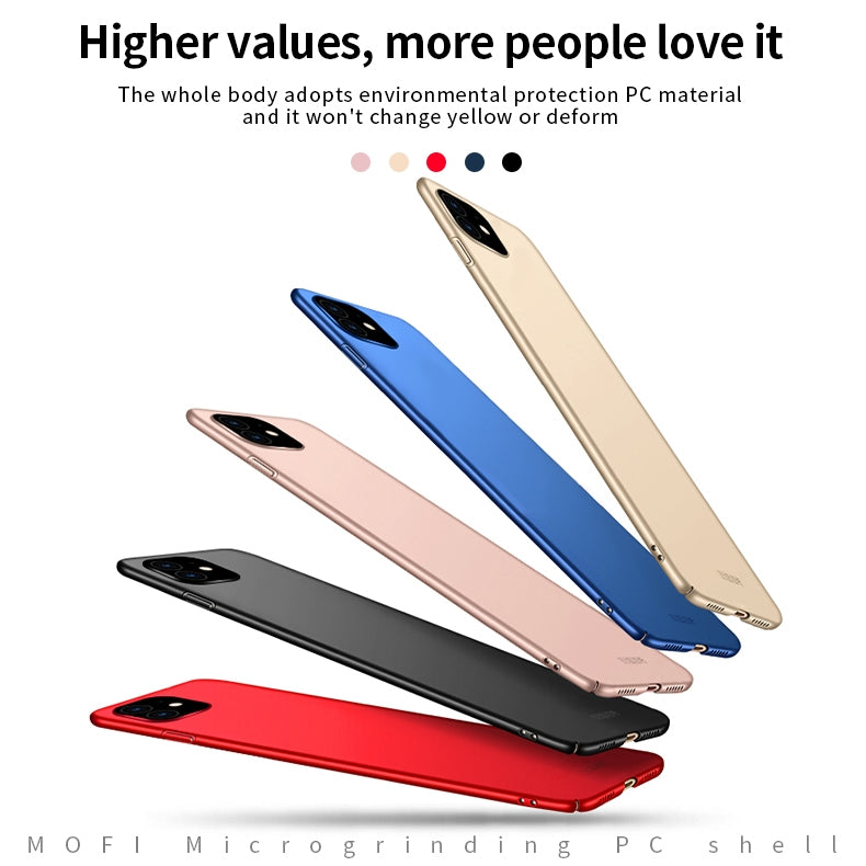 MOFI Frosted PC Ultra-thin Hard Case for iPhone 11(Rose gold)