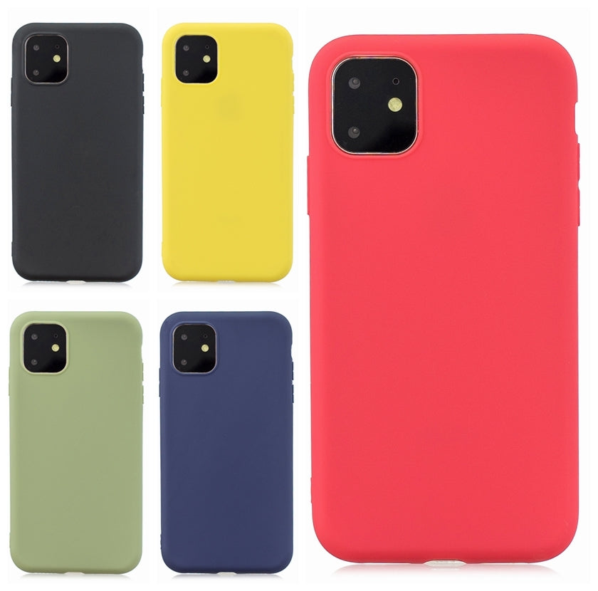 Frosted Solid Color TPU Protective Case for iPhone 11(Yellow)