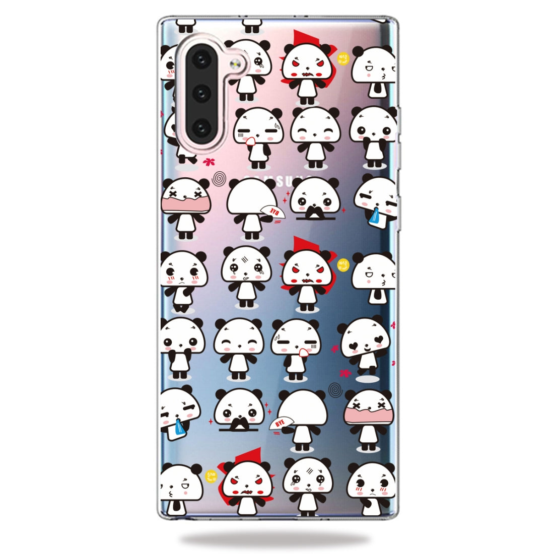 Pattern Printing Soft TPU Cell Phone Cover Case For Galaxy Note10(Mini Panda)