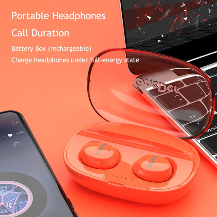 OneDer W12 Wireless Earphone with Waterproof IPX5 HD Stereo Sound TWS Bluetooth Earphone(Red)