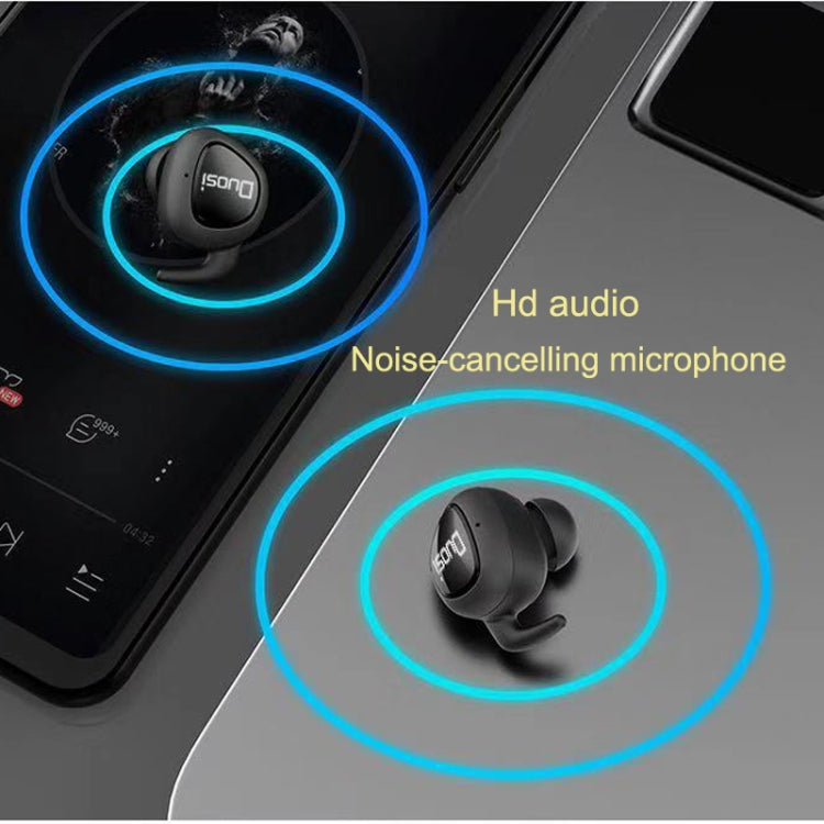Duosi DY-18 TWS Stereo Bluetooth 5.0 Earphone with 450mAh Charging Box (Black)