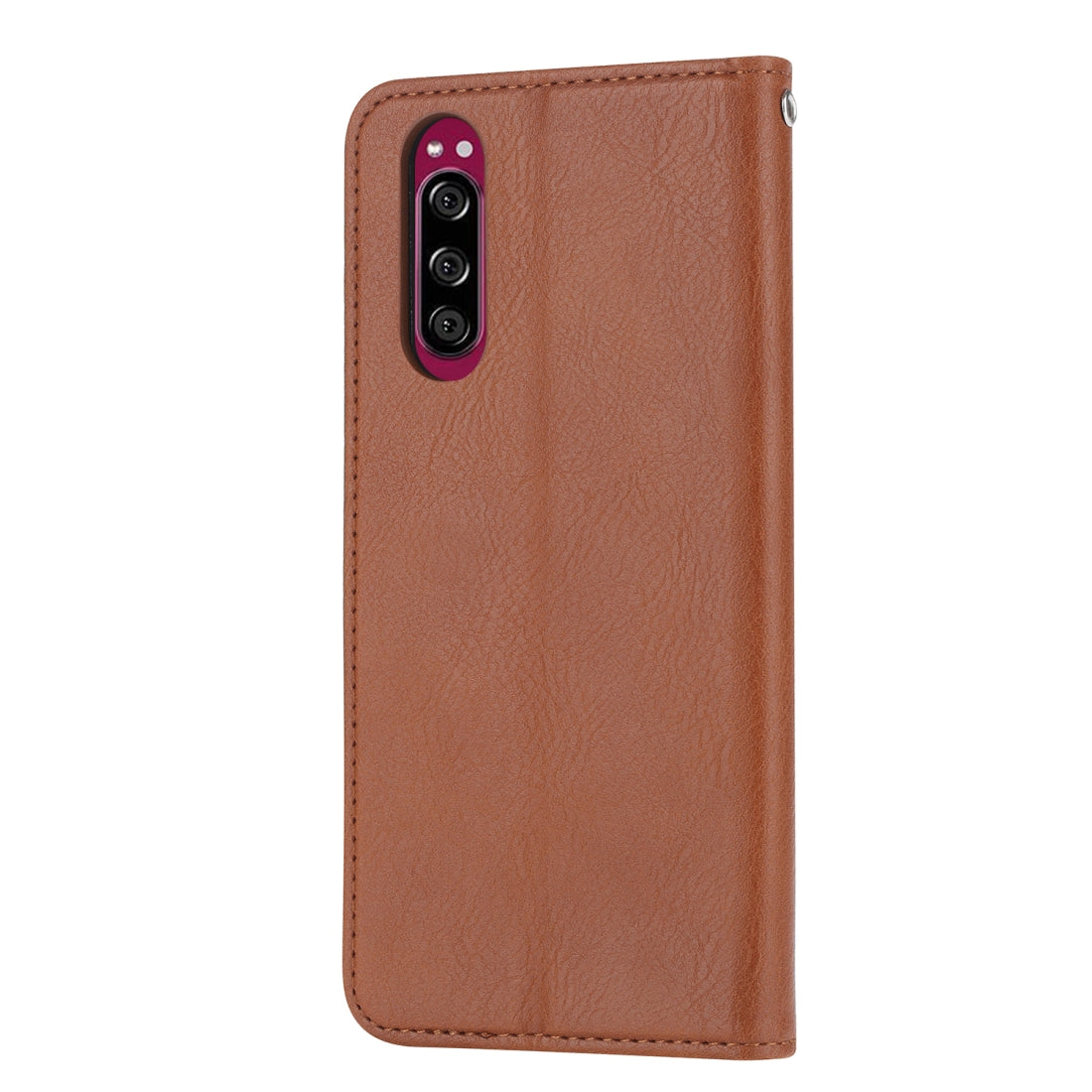 For Sony Xperia 5 Knead Skin Texture Horizontal Flip Leather Case with Photo Frame & Holder & Card Slots & Wallet(Brown)