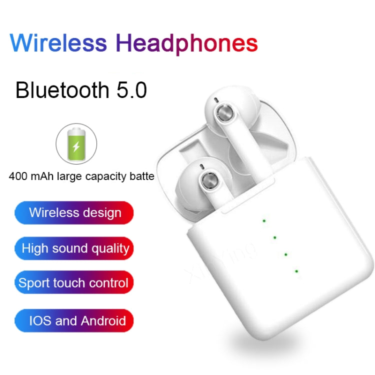 HD-S16 TWS Wireless Bluetooth Earphone 5.0 Touch Control Earbud Hifi Sound Quality Clear Durable(Black)