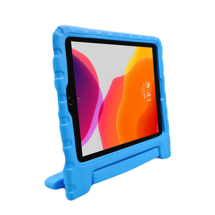 For iPad 10.2 EVA Bumper Protective Case with Handle & Holder (Blue)