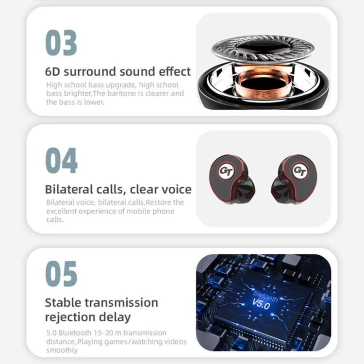 T911 TWS Wireless Bluetooth 5.0 Music Earphones In-ear Stereo   Earbuds Mini Headset With Charging Case(Ceramic White)