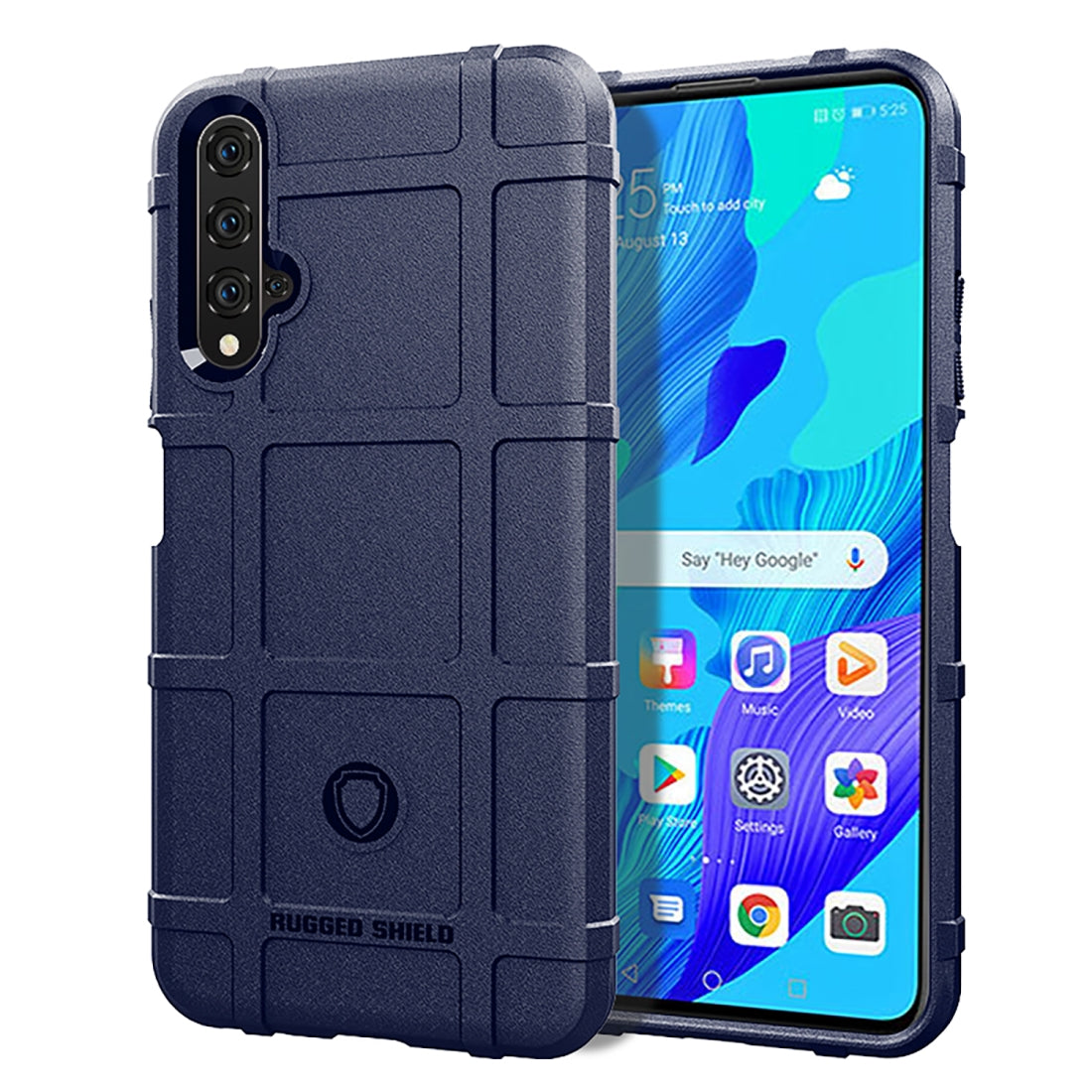 For Huawei Nova 5T Pro Full Coverage Shockproof TPU Case(Blue)