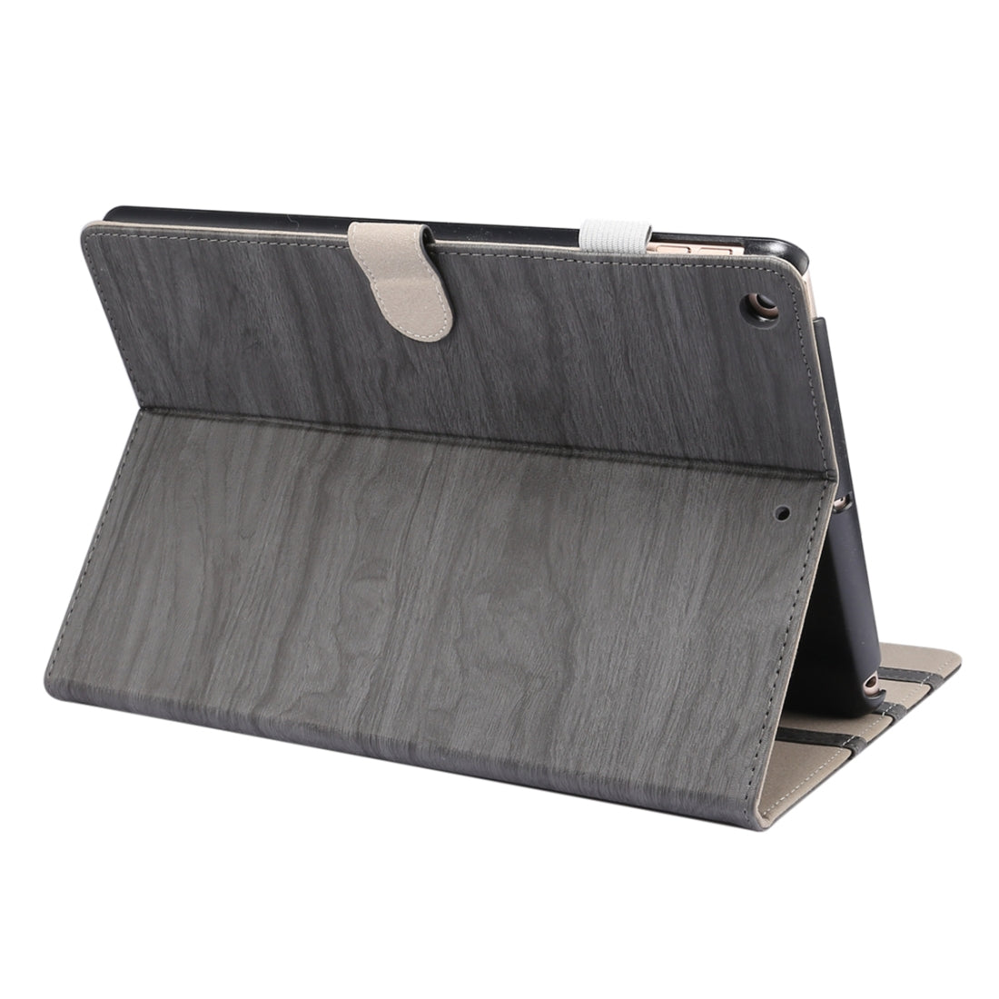 For iPad 10.2 (2019) ENKAY Stand Folio Cover Leather Smart Case with Auto Sleep / Wake-up Function(Grey)