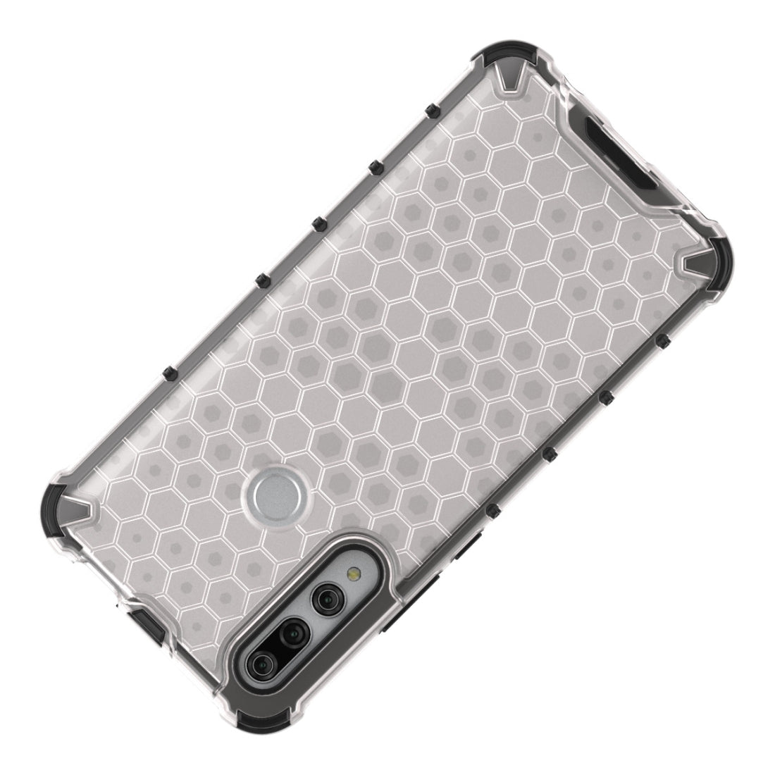 For Huawei Y9 Prime (2019)  Shockproof Honeycomb PC + TPU Case(White)